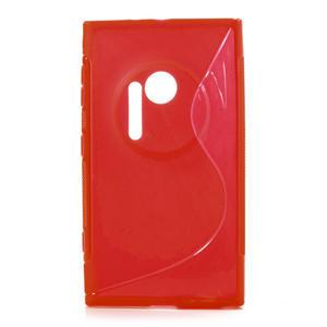 Gelové S-line pouzdro pro Nokia Lumia 1020- červené - 1