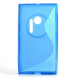 Gelové S-line pouzdro pro Nokia Lumia 1020- modré - 1