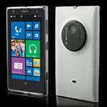 Gelové matné pouzdro pro Nokia Lumia 1020- bílé - 1/5