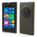 Gelové matné pouzdro pro Nokia Lumia 1020- šedé - 1/5