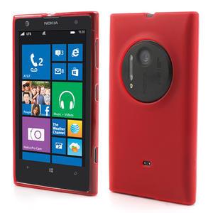 Gelové matné pouzdro pro Nokia Lumia 1020- červené - 1