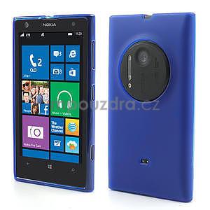 Gelové matné pouzdro pro Nokia Lumia 1020- modré - 1