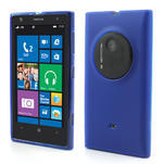 Gelové matné pouzdro pro Nokia Lumia 1020- modré - 1/5