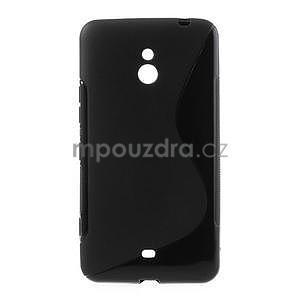 Gelové S-line pouzdro pro Nokia Lumia 1320- černé - 1