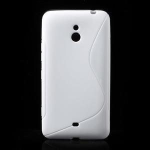 Gelové S-line pouzdro pro Nokia Lumia 1320- bílé - 1