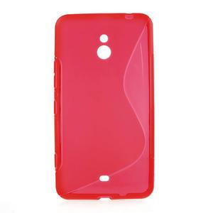 Gelové S-line pouzdro pro Nokia Lumia 1320- červené - 1