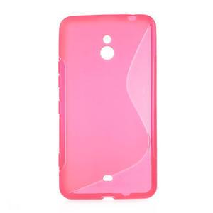 Gelové S-line pouzdro pro Nokia Lumia 1320- růžové - 1