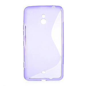 Gelové S-line pouzdro pro Nokia Lumia 1320- fialové - 1