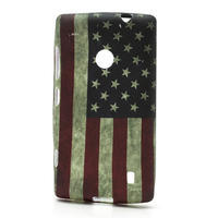 Gelové pouzdro na Nokia Lumia 520- USA vlajka - 1/3