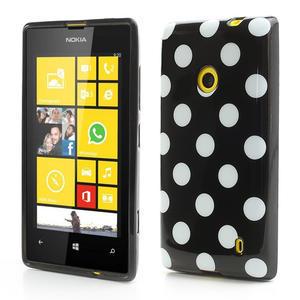Gelové PUNTÍK pouzdro na Nokia Lumia 520- černé - 1