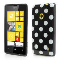 Gelové PUNTÍK pouzdro na Nokia Lumia 520- černé - 1/4