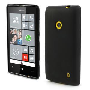 Gelové matné pouzdro na Nokia Lumia 520 - černé - 1