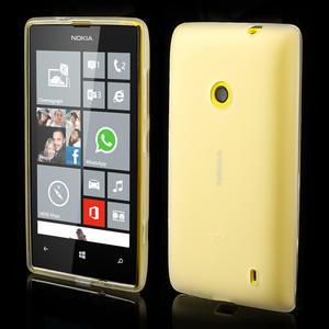 Gelové matné pouzdro na Nokia Lumia 520 - bílé - 1