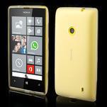 Gelové matné pouzdro na Nokia Lumia 520 - bílé - 1/5