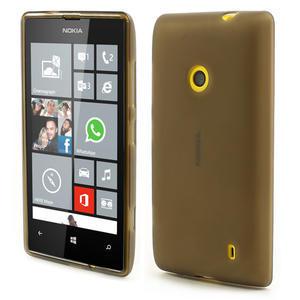 Gelové matné pouzdro na Nokia Lumia 520 - šedé - 1