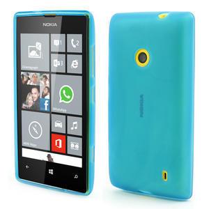 Gelové matné pouzdro na Nokia Lumia 520 - světlemodré - 1