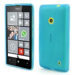 Gelové matné pouzdro na Nokia Lumia 520 - světlemodré - 1/5