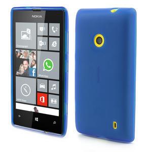 Gelové matné pouzdro na Nokia Lumia 520 - modré - 1
