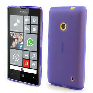 Gelové matné pouzdro na Nokia Lumia 520 - fialové - 1
