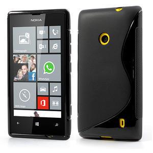 Gelové S-line pouzdro na Nokia Lumia 520- černé - 1