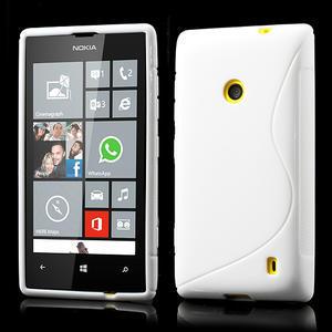 Gelové S-line pouzdro na Nokia Lumia 520- bílé - 1