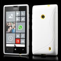 Gelové S-line pouzdro na Nokia Lumia 520- bílé - 1/6