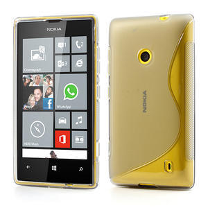 Gelové S-line pouzdro na Nokia Lumia 520- šedé - 1