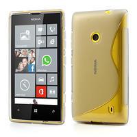 Gelové S-line pouzdro na Nokia Lumia 520- šedé - 1/7