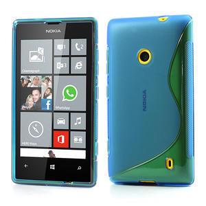 Gelové S-line pouzdro na Nokia Lumia 520- modré - 1