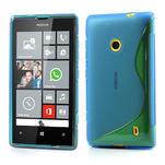 Gelové S-line pouzdro na Nokia Lumia 520- modré - 1/6