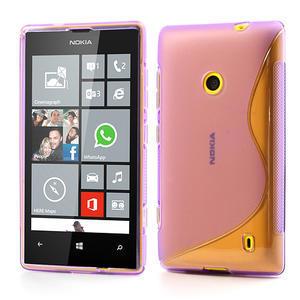 Gelové S-line pouzdro na Nokia Lumia 520- fialové - 1