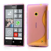 Gelové S-line pouzdro na Nokia Lumia 520- fialové - 1/5
