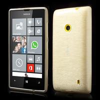Gelové kartáčové pouzdro na Nokia Lumia 520- bílé - 1/5