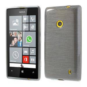 Gelové kartáčové pouzdro na Nokia Lumia 520- šedé - 1