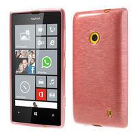 Gelové kartáčové pouzdro na Nokia Lumia 520- světlerůžové - 1/5