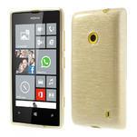 Gelové kartáčové pouzdro na Nokia Lumia 520- zlaté - 1/5