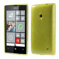 Gelové kartáčové pouzdro na Nokia Lumia 520- zelené - 1/5