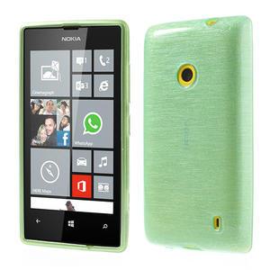 Gelové kartáčové pouzdro na Nokia Lumia 520- zelenomodré - 1