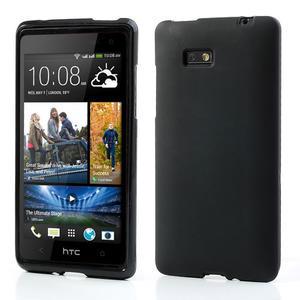 Gelové matné pouzdro pro HTC Desire 600- černé - 1