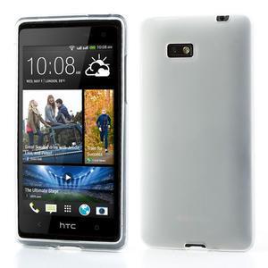 Gelové matné pouzdro pro HTC Desire 600- bílé - 1