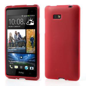 Gelové matné pouzdro pro HTC Desire 600- červené - 1
