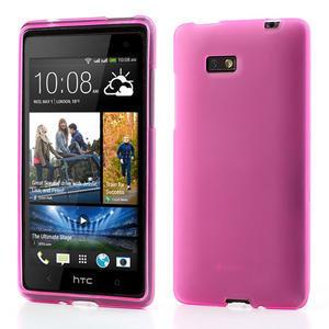 Gelové matné pouzdro pro HTC Desire 600- růžové - 1