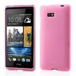 Gelové matné pouzdro pro HTC Desire 600- světlerůžové - 1/6