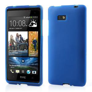 Gelové matné pouzdro pro HTC Desire 600- modré - 1