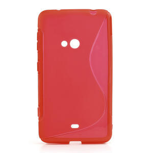 Gelové S-line pouzdro pro Nokia Lumia 625- červené - 1