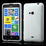 Gelové S-line pouzdro pro Nokia Lumia 625- bílé - 1/7