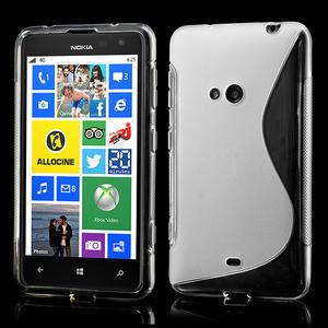 Gelové S-line pouzdro pro Nokia Lumia 625- transparentní - 1
