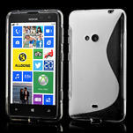 Gelové S-line pouzdro pro Nokia Lumia 625- transparentní - 1/7