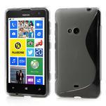 Gelové S-line pouzdro pro Nokia Lumia 625- šedé - 1/5