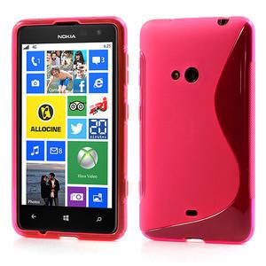 Gelové S-line pouzdro pro Nokia Lumia 625- růžové - 1